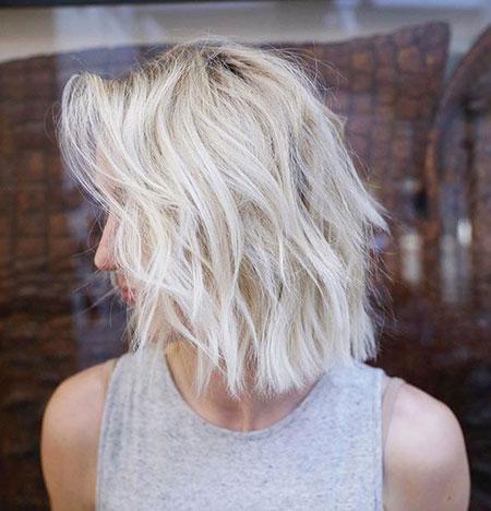 Blonde Bob Hairstyles, Blonde Hairstyles, Choppy, Balayage, Wavy, View