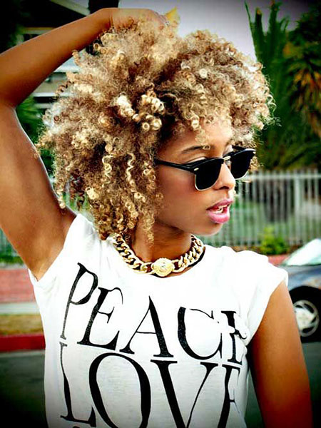 Natural, American, African, Short Hairstyles