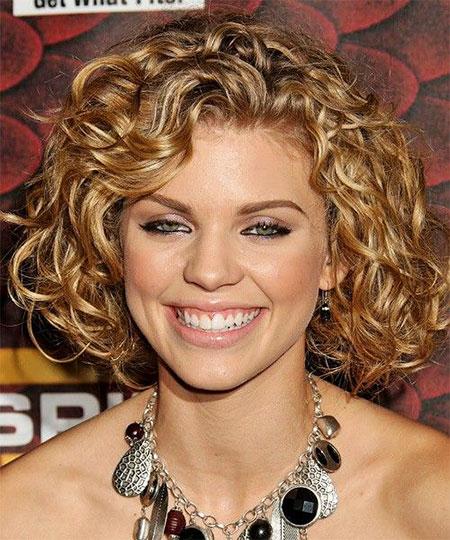 Curly, Medium, Short, Women, Round, Mccord, Length