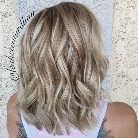 Blonde, Platinum, Layered, Soft, Season, One, Lob, Light
