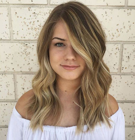 Blonde, Sandy, Highlights, Dark, Balayage