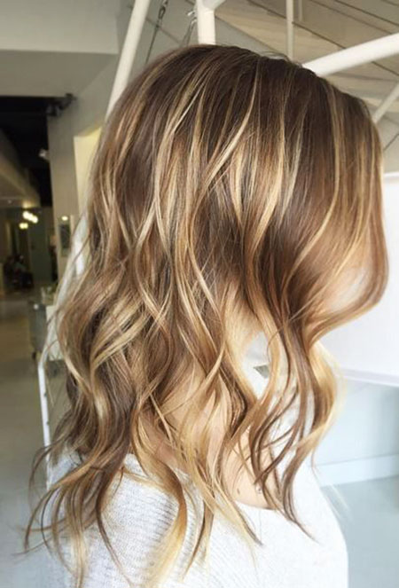 Highlights, Blonde, Balayage, Woman, Trendy