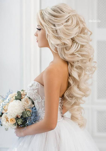 Wedding Long Updos Guest formal Bridesmaid Bridal