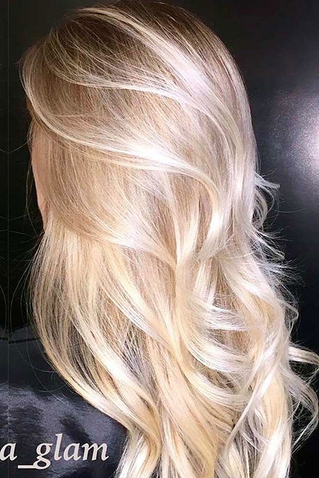 Blonde Ombre Balayage Platinum Long Highlights Colors
