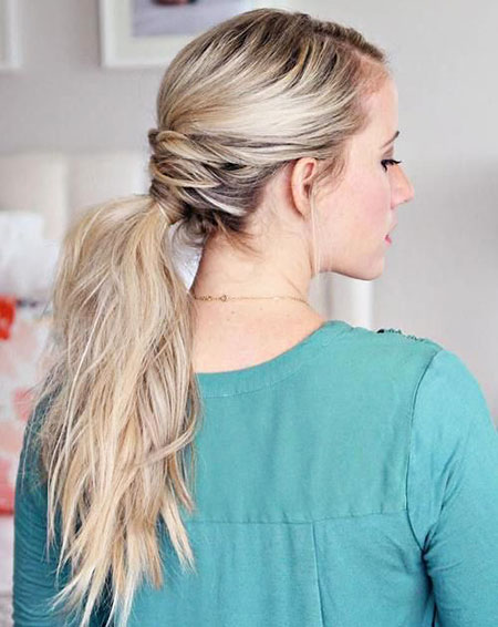 Braided, Ponytail, Long, Curls, Classy, Blonde