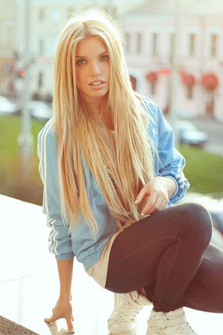 Long Pretty Girl Cute Blonde