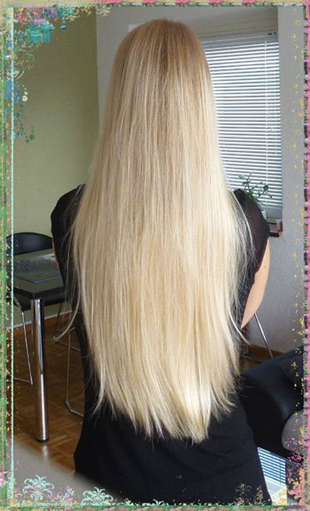 Blonde, Thin, Long, Straight, Real, Platinum, Over, Ombre