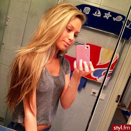 Long Blonde Layer Jennifer Aniston