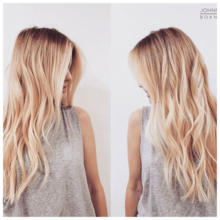 Blonde Layered Bangs Balayage Types Trendy Texture