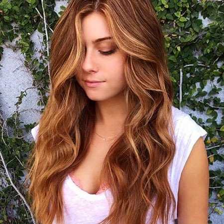 Strawberry, Blonde, Pretty, Highlights, Brown, Balayage