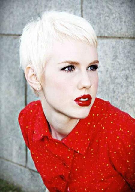 Pixie Cut, Short Hairstyles, Platinum, Blonde Hairstyles, Women
