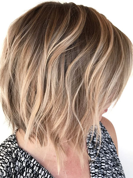 Blonde Bob Hairstyles, Choppy, Balayage, Short Hairstyles, Round, Faces, Face