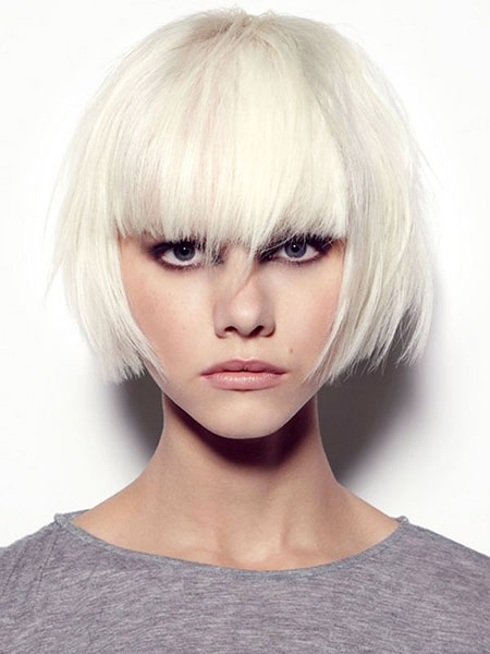 Short Hairstyles, Blonde Hairstyles, Platinum, Locks, Curly, Bangs