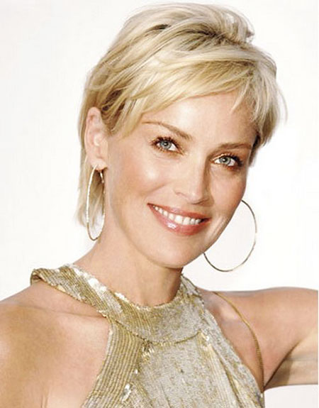 Short Hairstyles, Women, Styles, Stone, Sharon, Japanese