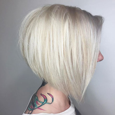 Blonde Hairstyles, Short Hairstyles, 2017, Thin, Silver, Sassy