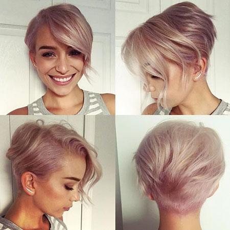 Short Hairstyles, Pixie Cut, Blonde Hairstyles, Round