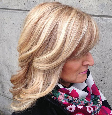 Blonde, Women, Over, Modern, Highlights, Wavy, Waves