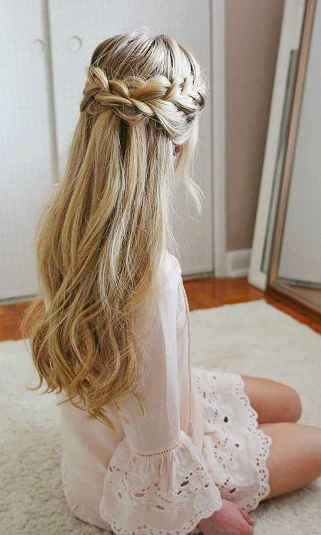 Wedding Prom Long Waterfall Trendy Everyday Braided