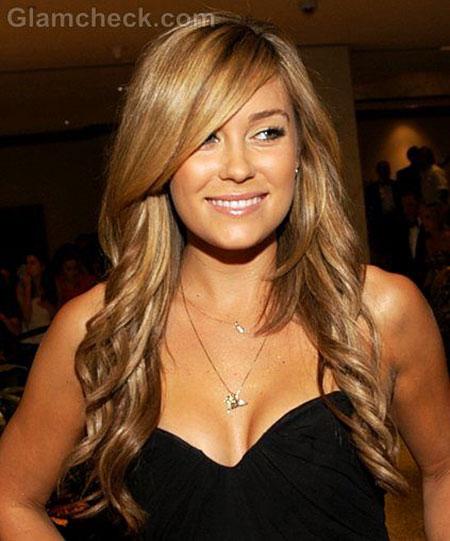 Blonde Highlights Swept Side Natural Long Laurenconrad Lauren Dark