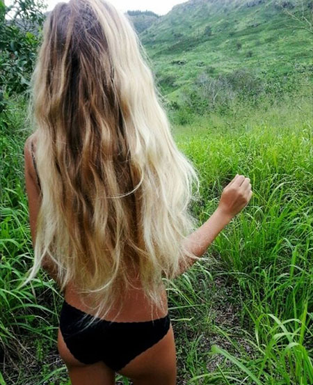 Blonde, Long, Ombre, Layers, Curls, Balayage