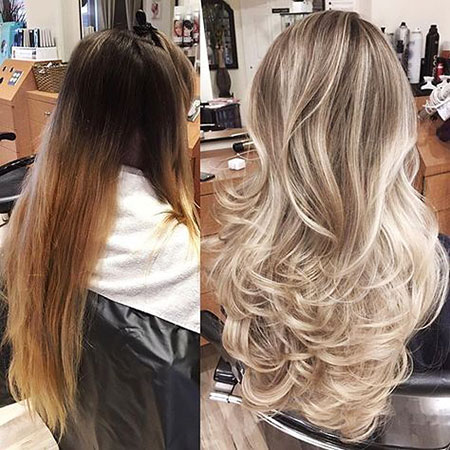 Blonde Highlights Heavy Head Full