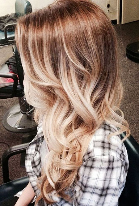 Ombre Blonde Trends Thin Straight Fine Balayage 2017