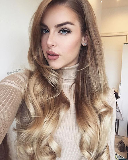 Honey Ombre Warm Thick Long Locks Clip Blonde