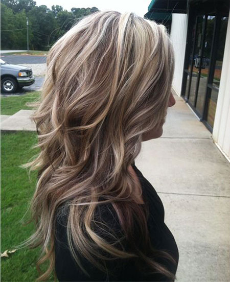 Highlights Blonde Lowlights Low Long Layered High Caramel