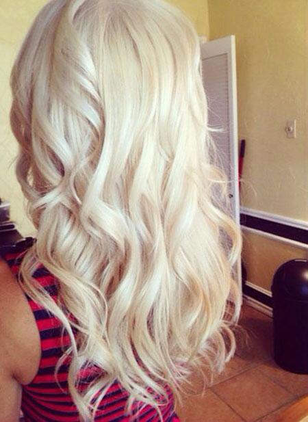 Blonde Curls White Very Pretty Lowlights