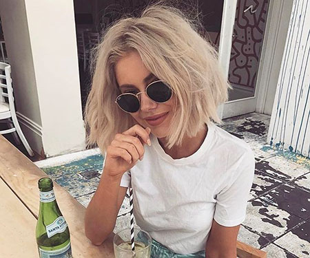 Short Hairstyles, Blunt, Blonde Hairstyles, Sunglasses, Long, Face