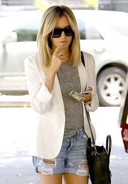 Short Hairstyles, Long, Blonde Hairstyles, Balayage, Women, Street