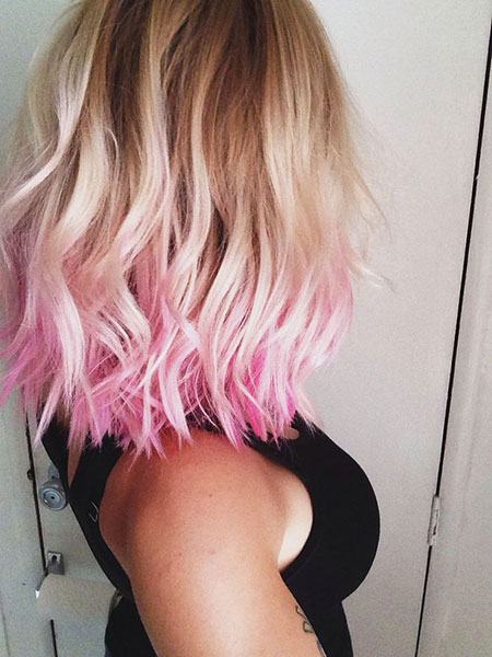 Pink, Pastel, Blonde Hairstyles, Women, Wedding, Straight Hairstyles