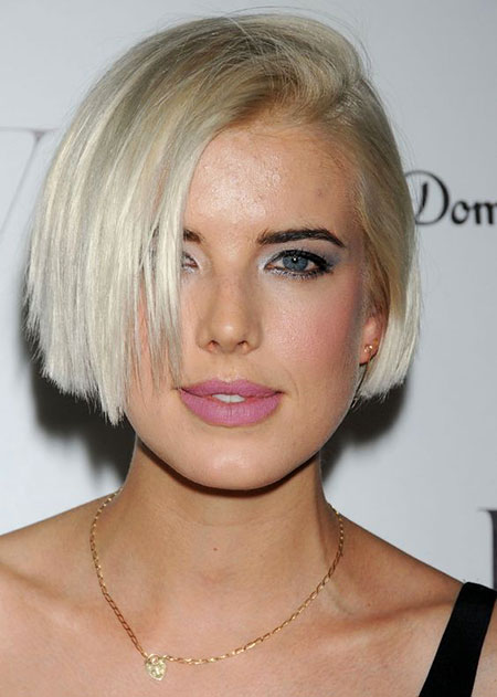 Short Hairstyles, Blonde Bob Hairstyles, Straight Hairstyles