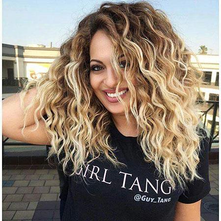 Curly, Waves, Blonde, Beach, Tori, Short, Permed, Medium