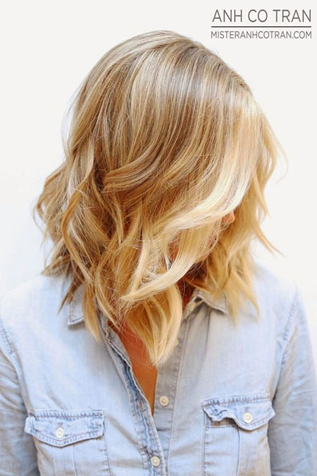 Length, Medium, Blonde, Short, Some, One, Ombre