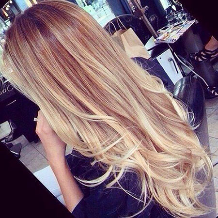 Blonde Summer Ombre Long Cute Colours Balayage 206