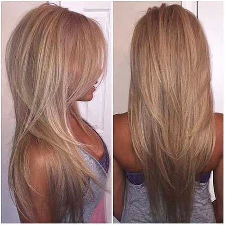 Shape, Highlights, Blonde, V, Long