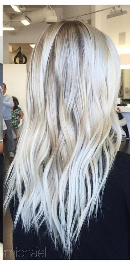 Blonde Ice Balayage Platinum Long Icy Colors Ash