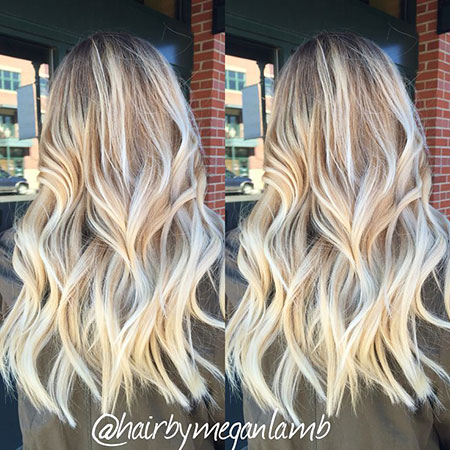 Blonde Balayage Long Ombre