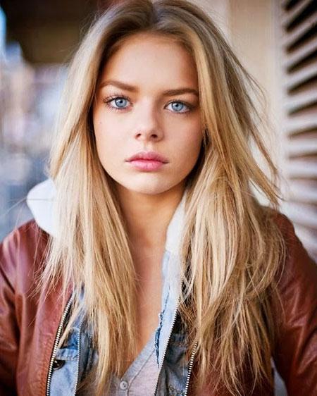Blonde Olsen Long Delevingne Cara Women Very Straight