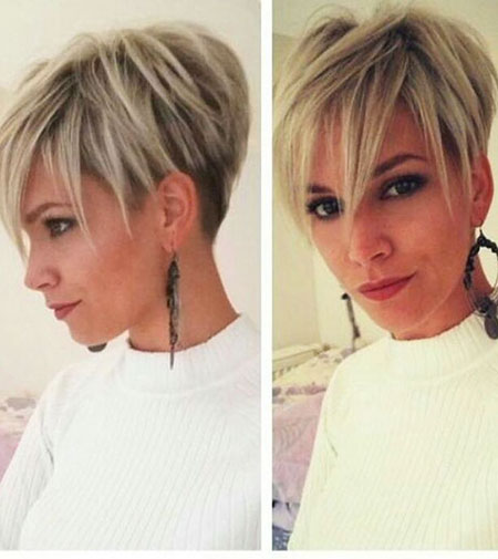 Short Hairstyles, Pixie Cut, Thin, Slightly, Sleek, Should, Medium