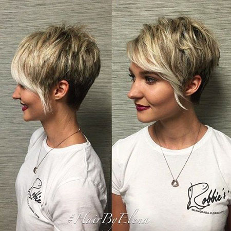 Short Hairstyles, Pixie Cut, Long, Girl, Fringe, Cropped