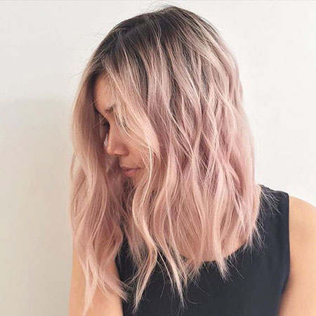 Blonde Hairstyles, Pink, Balayage, Rose, Pastel, Ombre, Gold, Bleach