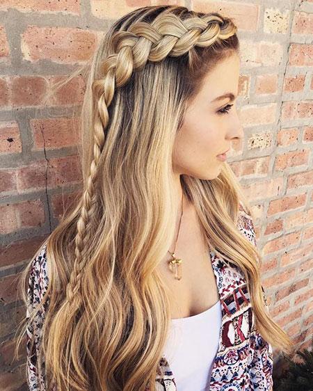49 Long Blonde Braid Hairstyles Blonde Hairstyles 2017