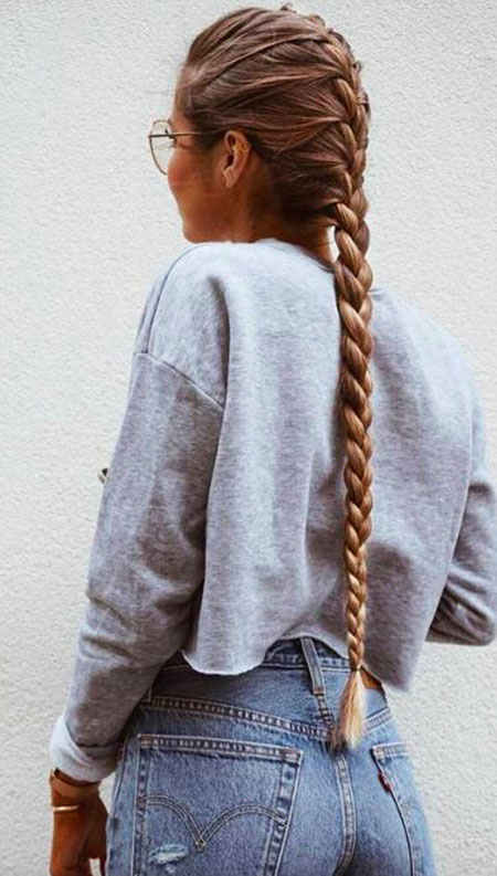 Braid Fishtail Side French Braids