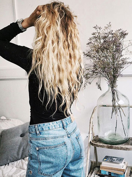 Wavy, Skin, Long, Fur, Fashion, Blonde
