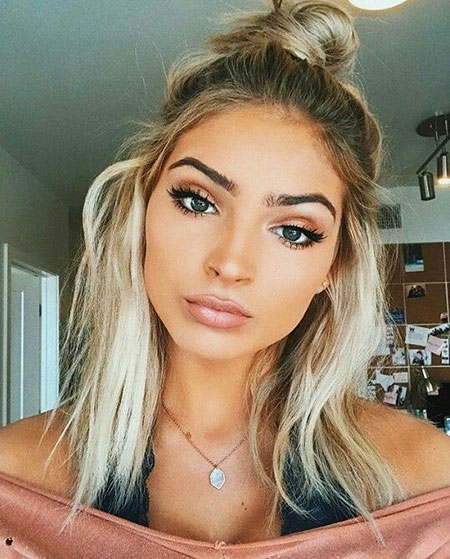 Short Hairstyles, Platinum, Ombre, Layered, Instagram, Honey