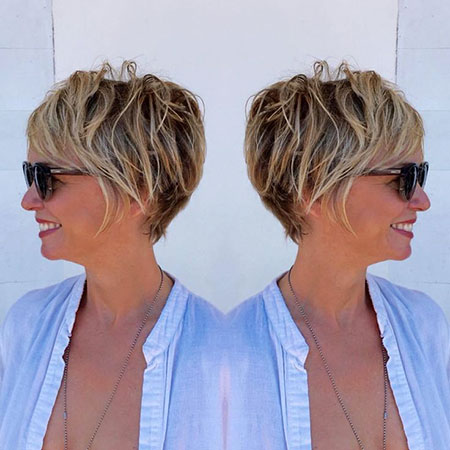 Short Hairstyles, Pixie Cut, Blonde Hairstyles, Women, Layered