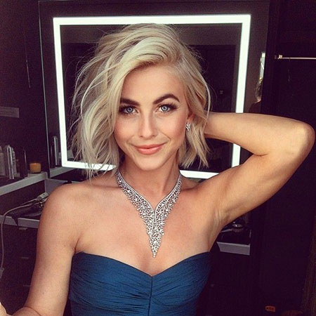 Julianne Hough, Short Hairstyles, Blonde Bob Hairstyles, Women, Lob