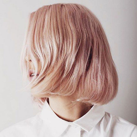 Gold, Blonde Bob Hairstyles, Short Hairstyles, Rose, Pink, Layered